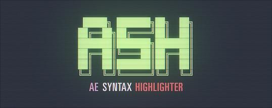 AE脚本:文字代码语法快速高亮展示Aescripts ASH Syntax Highlig