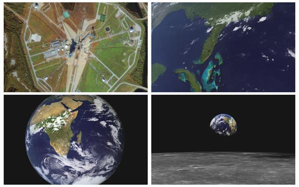 科技虚拟3D展示地球缩放时空火星表面视觉冲击动态场景视频素材