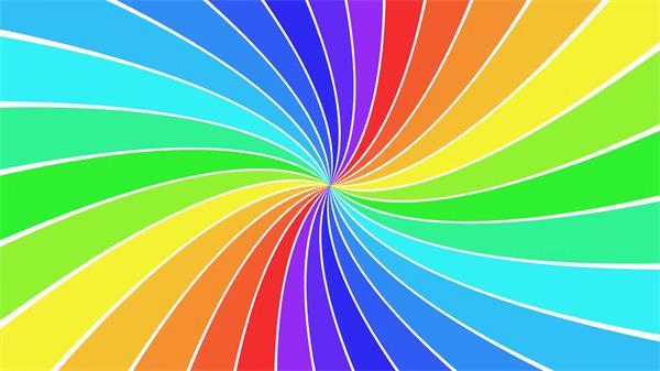 缤纷颜色联系歪曲旋转万花筒结果彩虹转盘动感屏幕配景视频素材
