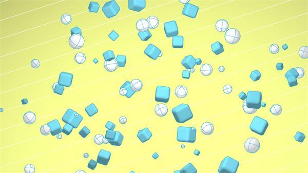 [4K]动感圆形球体爆炸分裂飞散儿童欢乐场景屏幕视频素材