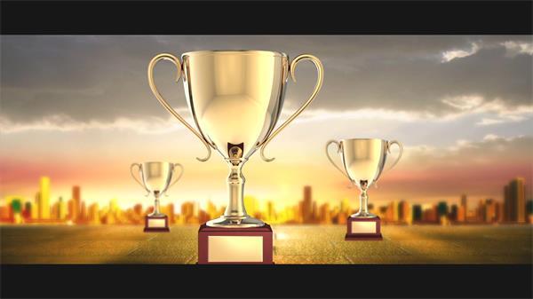 经典大气企业晚会奖杯开场颁奖典礼舞台LED屏幕背景视频素材