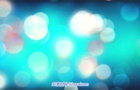 3款炫彩斑斓光效圆点漂浮梦幻场景动画屏幕演示背景视频素材