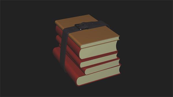 怀旧厚厚书本层叠打包旋转视觉展示学校学习书本视频素材