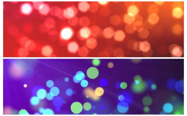 2款梦境壮丽颜色光效粒子圆形漂泊视觉场景舞台配景视频素材