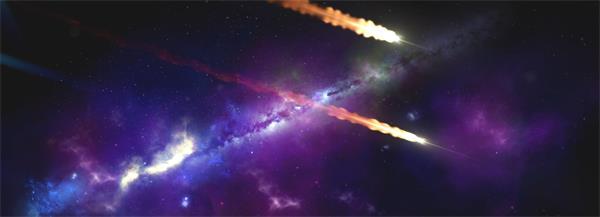 魔幻太空宇宙场景陨石飞行滑动酷炫视觉冲击舞台屏幕背景视频素材