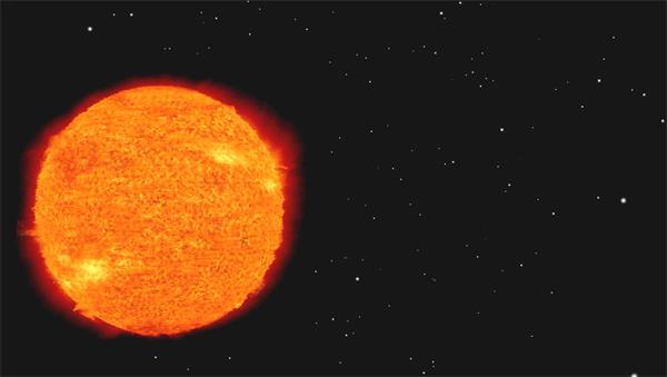 壮观宇宙太空太阳表面火焰变化卡通动画场景舞台背景视频素材