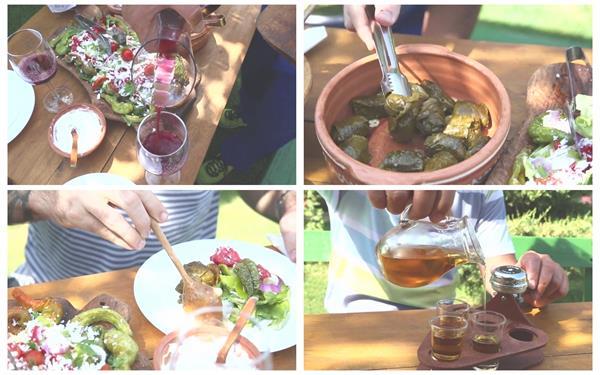 丰富美味美食红酒披萨蔬果冲茶泡茶人物休闲生活聚会高清视频实拍