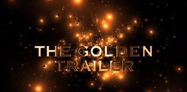 AE模板 豪华金色光效粒子渲染电影标题切换场景预告宣传片模板 AE