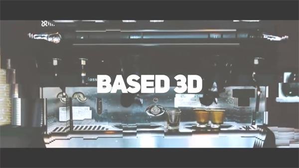 AE模板 3D简洁活力生活快速切换图文过渡场景相册幻灯片模版 AE素