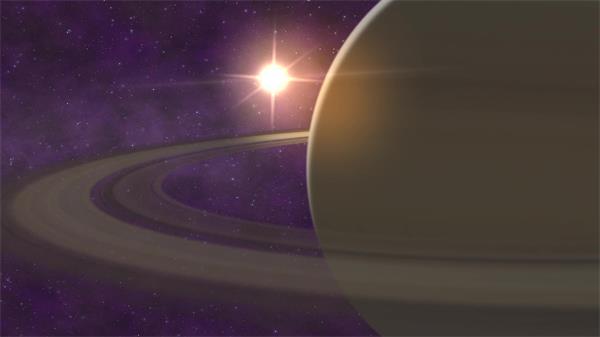 宇宙太充实拟场景土星环太阳系行星空间活动视觉配景视频素材