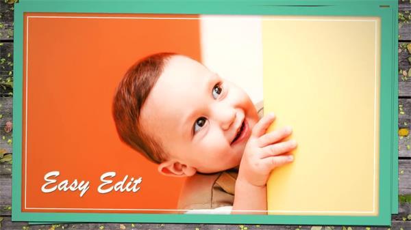AE模板 有趣创意设计照片框架变幻演绎动画儿童画廊幻灯片模版 AE