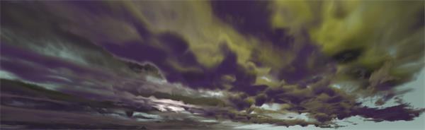 大雨来临天空布满乌云移动电光闪烁变化天气背景视频素材