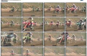 刺激惊险极速摩托车比赛赛车场沙尘滚滚极限体育运动高清视频实拍