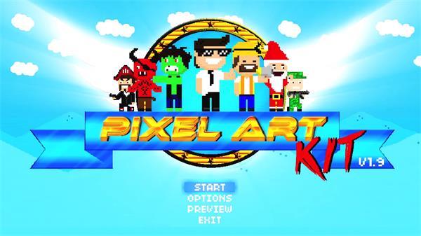 AE模板 趣味卡通人物艺术元素游戏解说视频创作流程图文动画模版