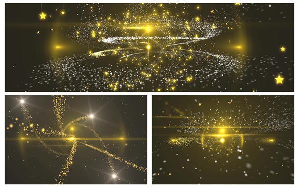 震動華麗大氣星光粒子運動場景視覺沖擊LED開場背景視頻素材