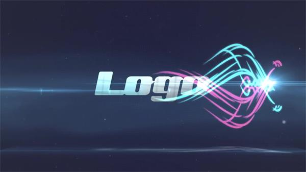 AE模板 炫酷色彩光效线纹运动组合演绎企业LOGO标志片头模板 AE素