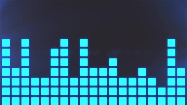 动感跳动小方块条形音频科技屏幕视觉场景音乐舞台视频素材