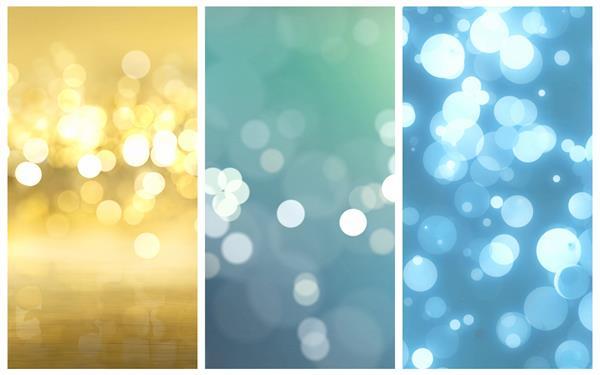 3款唯美光效光斑粒子移动变化梦幻简约舞台LED背景视频素材