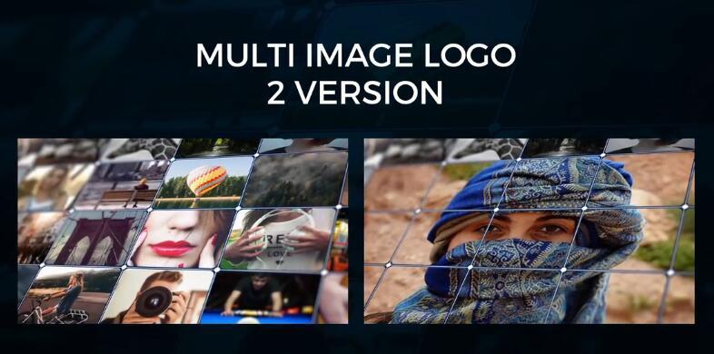 AE模板 古代优雅通用照片墙人脸拼接视频标题模板 AE素材