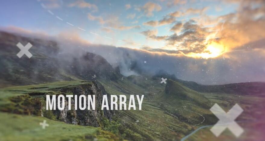 AE模板 优雅自然时尚电影动画视觉效果高山峻岭照片幻灯片模板 AE