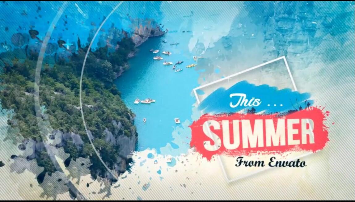 AE模板 夏日时尚运动沙滩海岛美女幻灯片视频模板 AE素材
