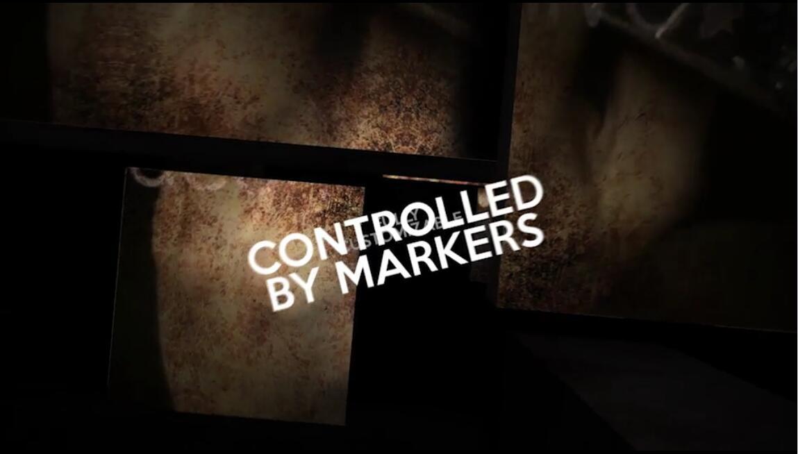 AE模板 古代时髦科技金属场景音乐歌词疾速切换视频模板 AE素材