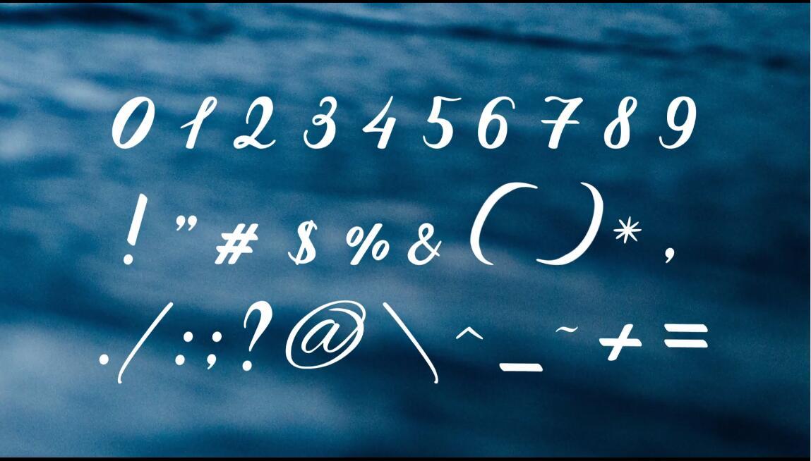 AE模板 时髦黑色大海星空落叶傍晚配景手绘字母表模板 AE素材