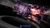 AE模板 弧形屏幕多画面同屏人物介绍开场模板 AE素材