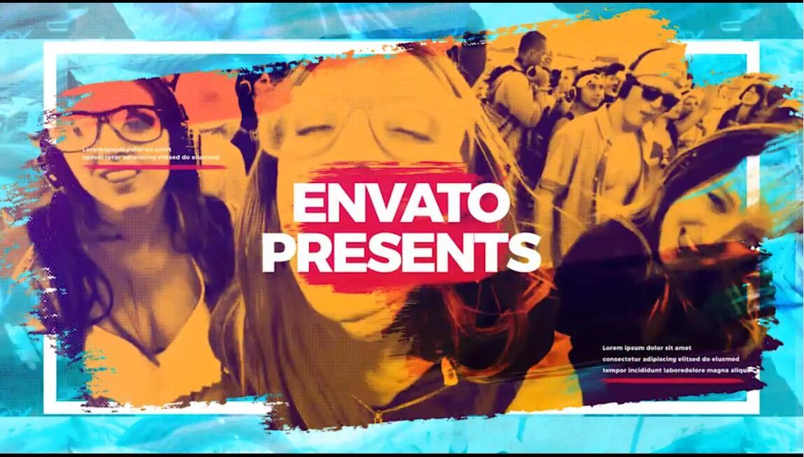 AE模板 世界各地熱門音樂節青春活力四射人群熱舞視頻模板 AE素材