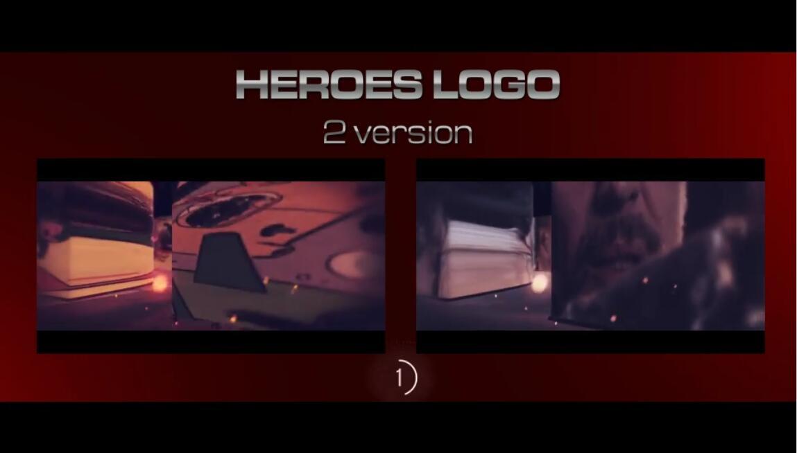 AE模板 个性炫酷漫画英雄动态切换电影开场片头LOGO模板 AE素材