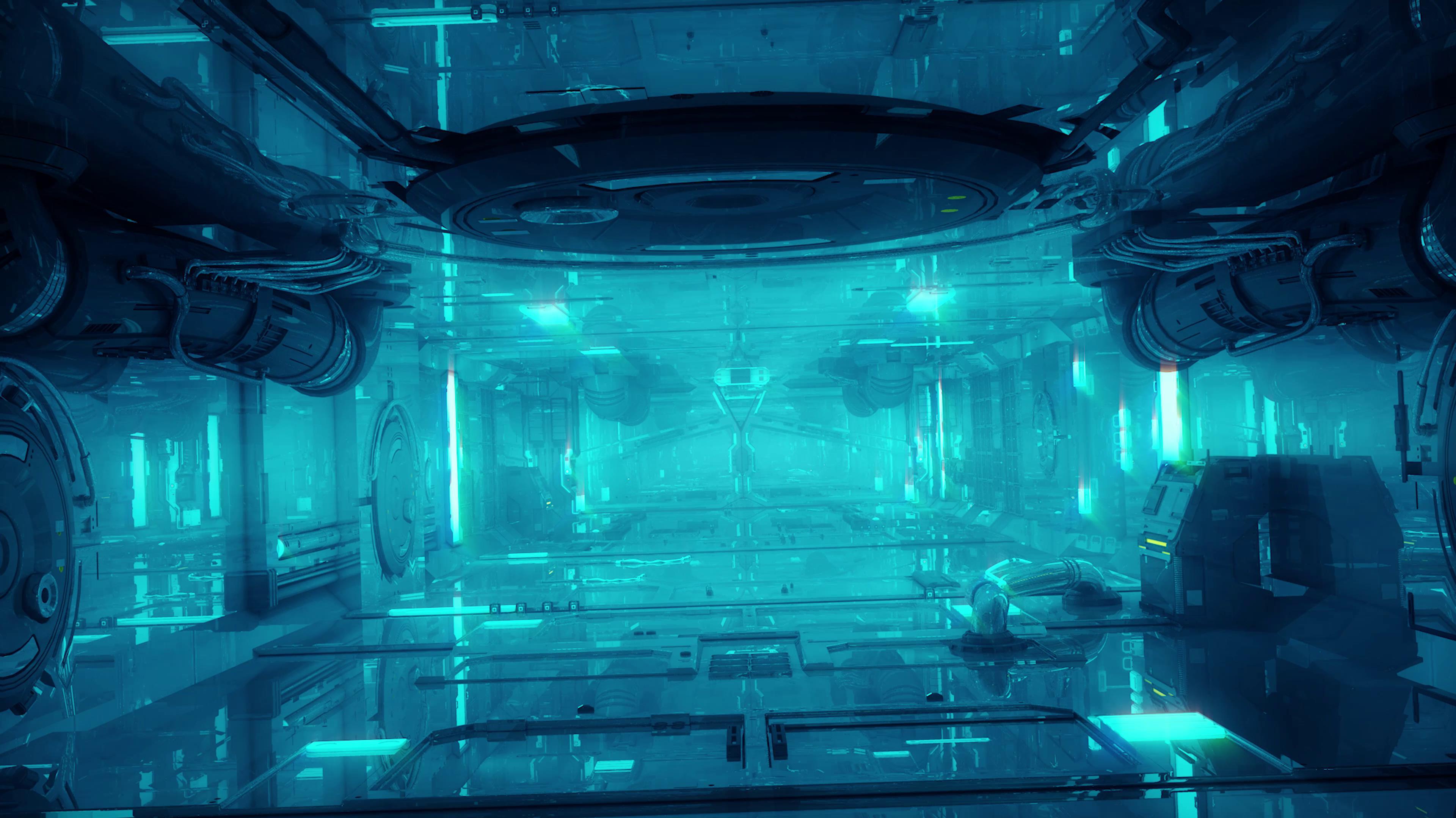 炫酷未来科幻?#25293;?#22826;空舱空间背景视频素材