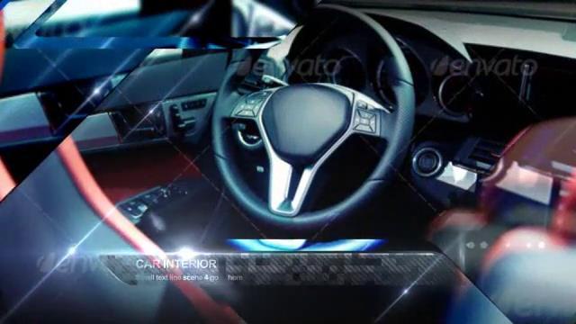 AE模板 炫酷金属感闪耀汽车设计细节内饰展示模板 AE素材