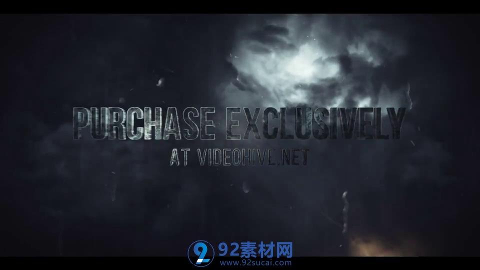 雨雷电效果视觉冲击电影片头logo模板 ae素材     【时间长度】:69秒