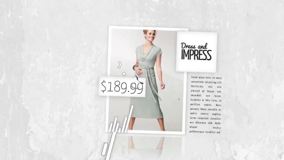 AE模板 潮流时尚简约黑白风品牌女装展销宣传幻灯片模板 AE素材