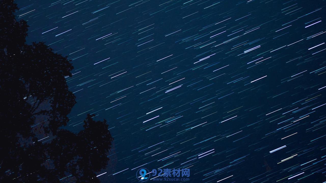 夜空流星雨星道轨迹唯美镜头视频素材