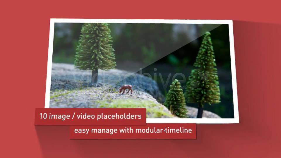 AE模板 创意时尚3D灯箱展示跳出幻灯片相册模板 AE素材