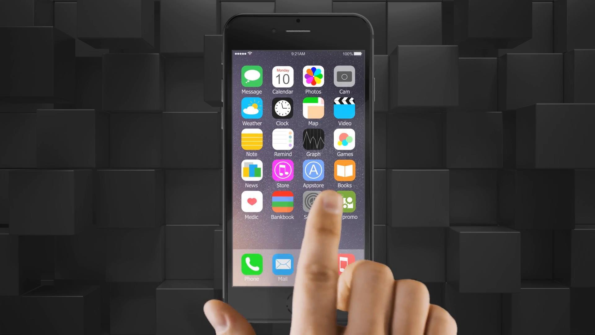 现代高科技手机APP应用推广操作模拟演示发布会动AE模板 视频素材