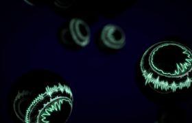 炫酷笼统数字平面闪光小球变色视频素材