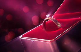 浪漫钻石戒指求婚婚礼循环背景视频素材