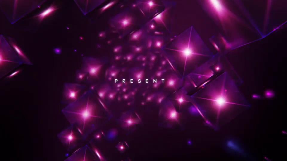 AE模板 时尚立体三维方块钻石耀眼霓虹灯标题包装模板 AE素材