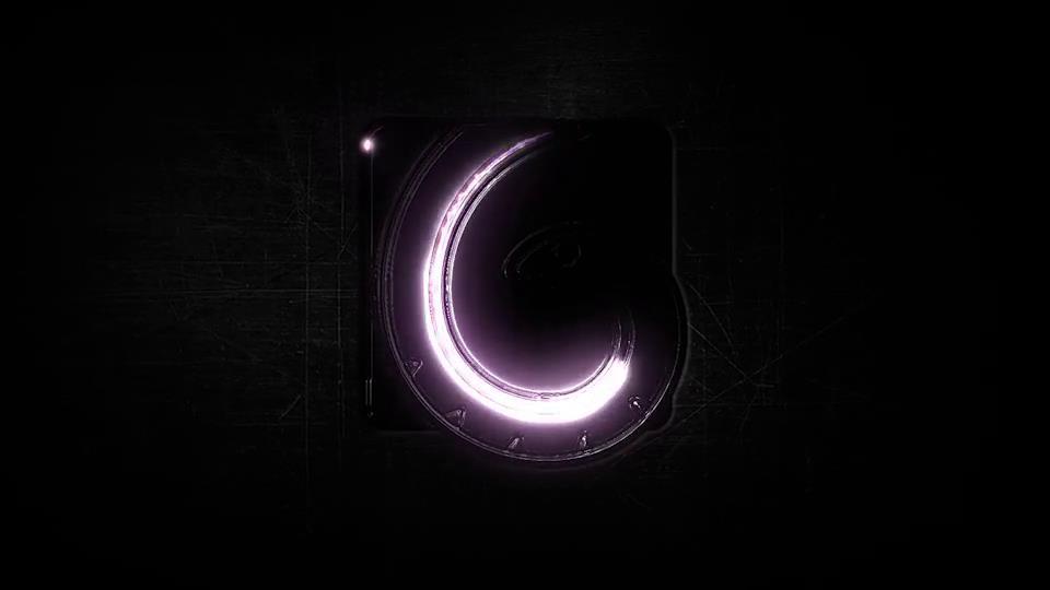 AE模板 炫酷暗光描边发光演绎标志LOGO闪亮动画模板 AE素材