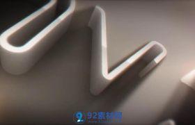 AE模板 繁复白色凸出三维平面描画归纳片头LOGO动画模板 AE素材