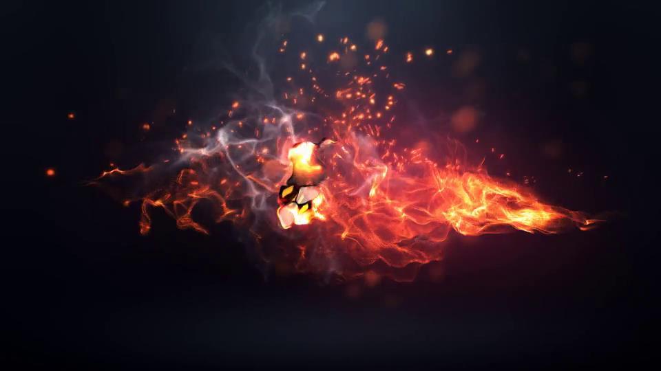 AE模板 大气粒子火焰烟雾掠过飘散演绎标志LOGO模板 AE素材