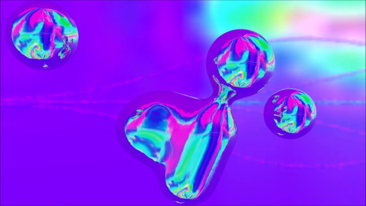抽象金属球水银水珠碰撞融合视频素材