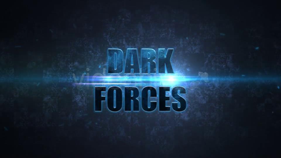 AE模板 大气震撼的黑暗聚焦光粒子碰撞标题LOGO模板 AE素材