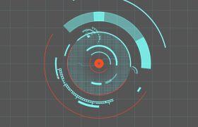 科技感圆形HUD信息界面背景视频素材