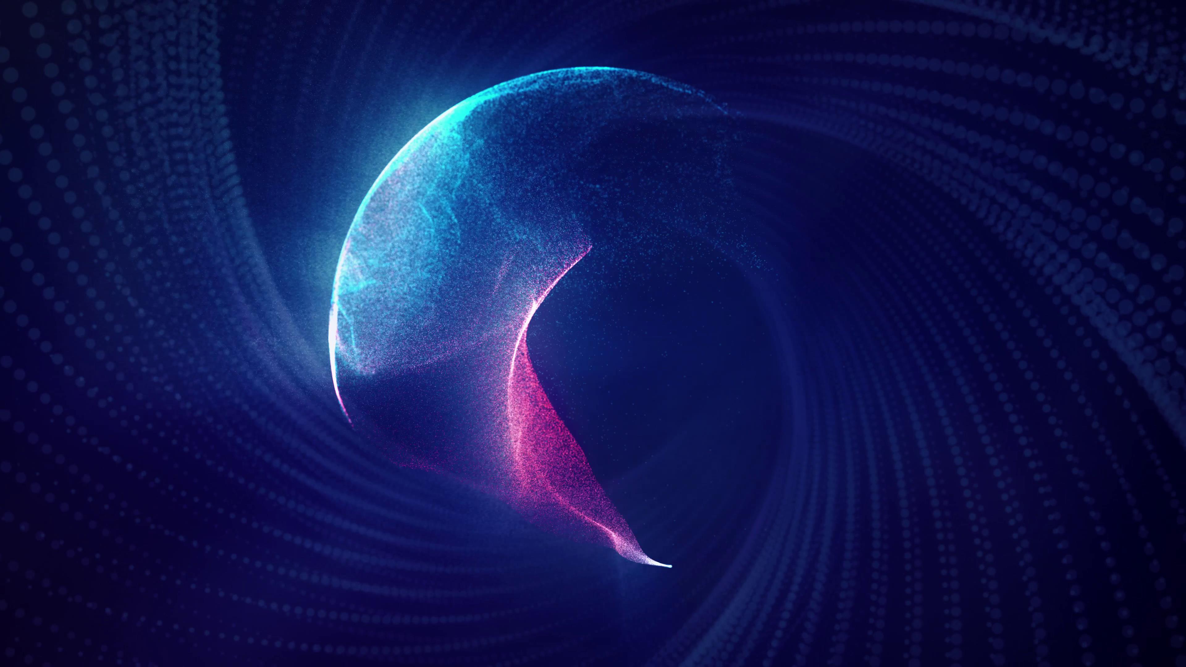 唯美炫丽抽象魔法粒子轨道变换视频素材