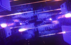 未来科幻感计算机内部运动光束视频素材