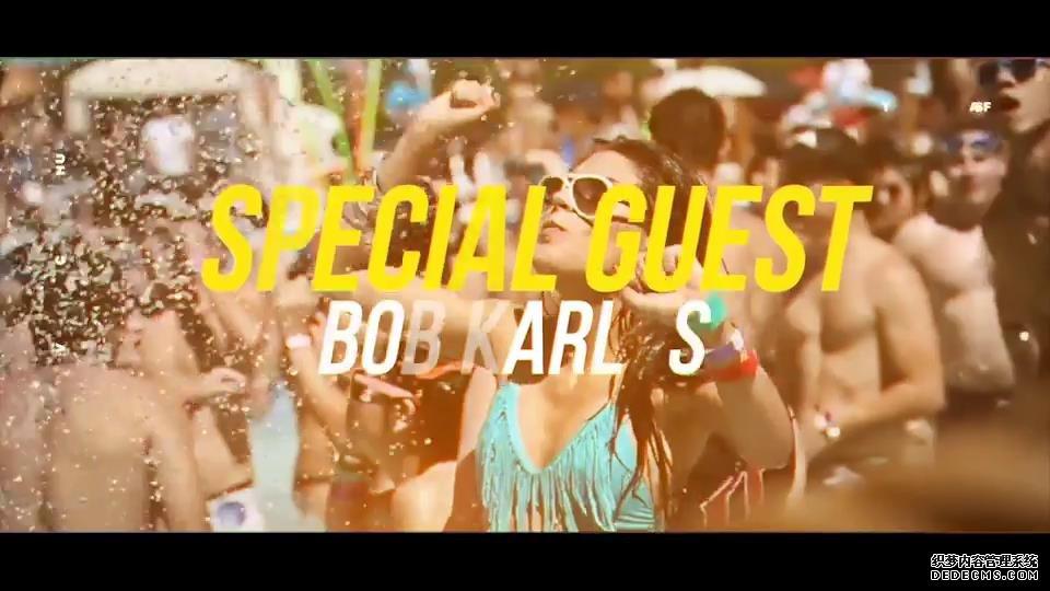 AE模板 热情夏季海边沙滩音乐节通用运动图形标题转换模板 AE素材