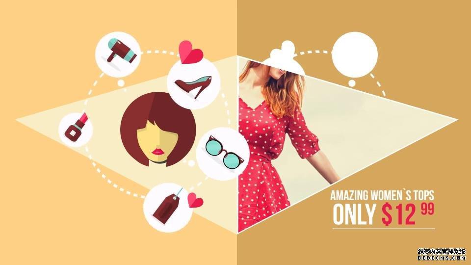 AE模板 商店销售在线促销展示出售价格幻灯模板 AE素材